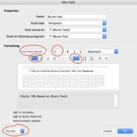 Style Formatting A Manuscript in Word
